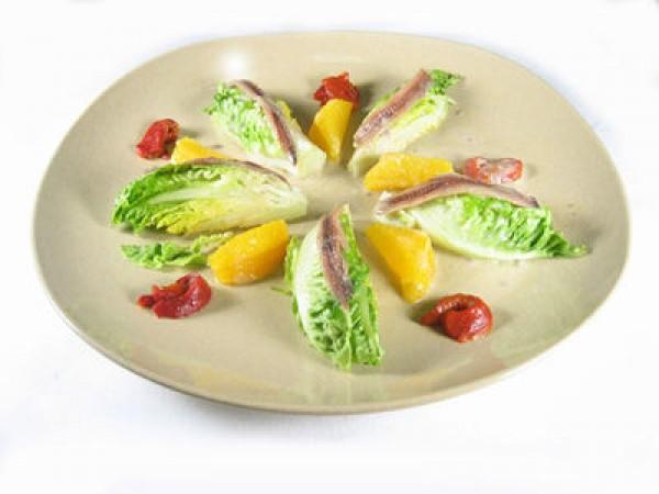 Receta de Cogollos con Salsa de Anchoas y Naranja