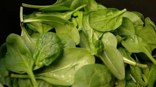 Las espinacas, una fuente muy buena de antioxidantes