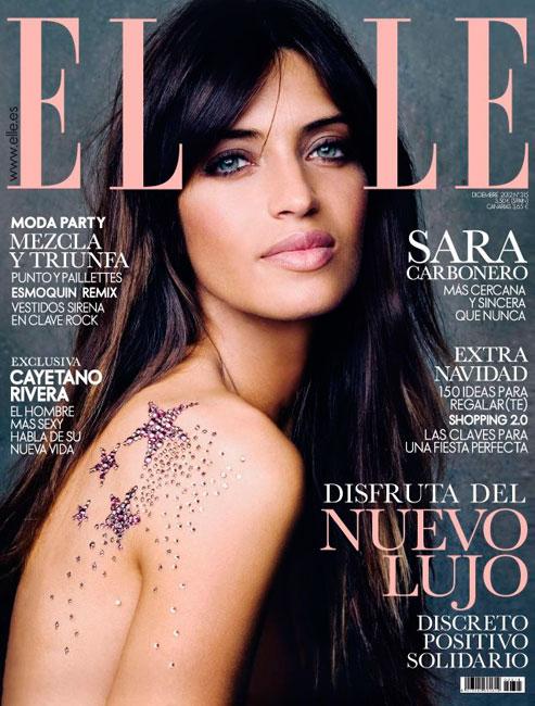 Sara Carbonero en la portada de Elle de Navidad 2012