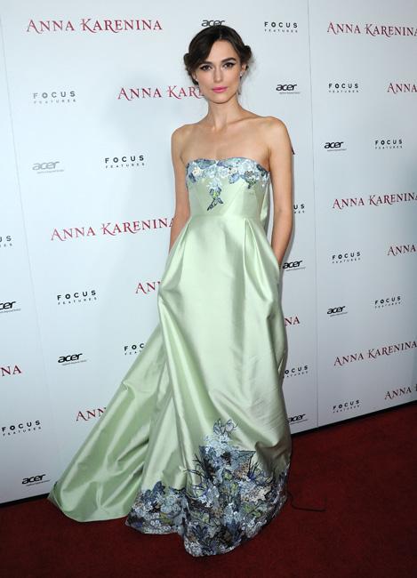 El look de Keira Knightley en la premiere de Anna Karenina