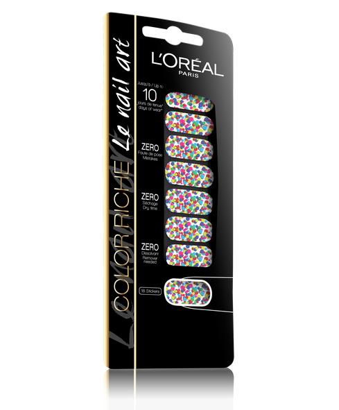 Nuevos stickers de L'Oréal con aire hippie