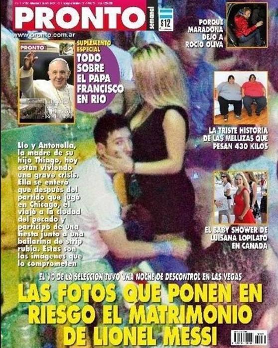 Leo Messi, pillado con las manos en la stripper