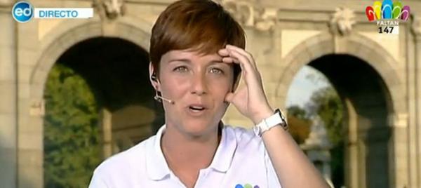 TVE achicharra a su presentadora con Madrid 2020
