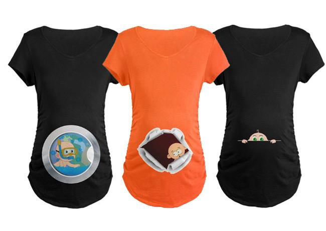 Dibujos De Embarazadas Con Playeras
