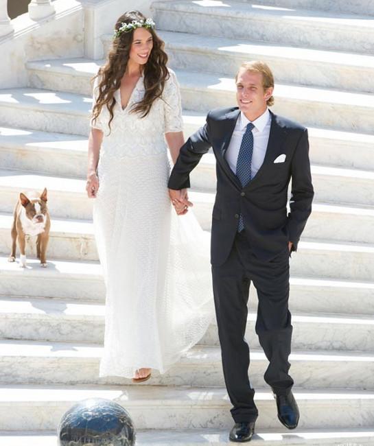 El look de Tatiana Santo Domingo el día de su boda con Andrea Casiraghi