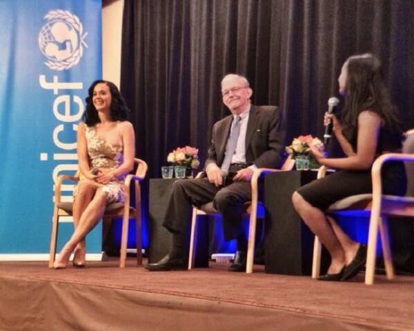 Katy Perry, nueva embajadora de Unicef