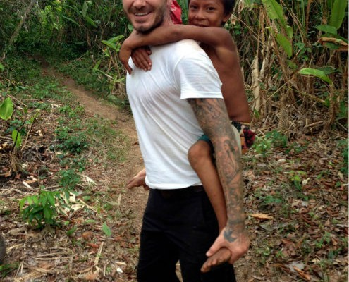 David Beckham se va al Amazonas a grabar un documental