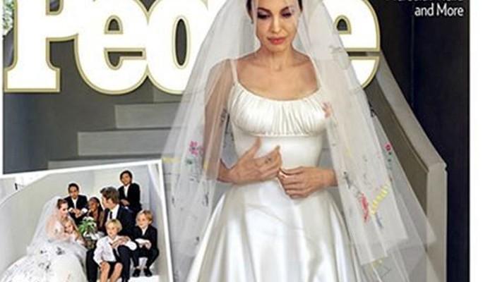El vestido de novia de Angelina