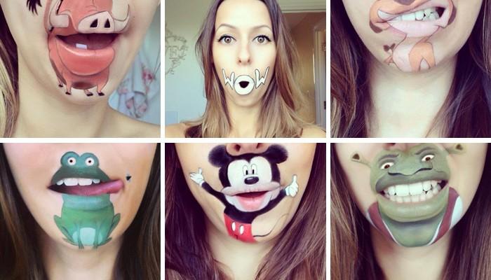 La moda del lip art