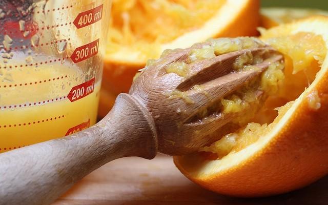 Propiedades de los zumos de naranja recién exprimidos
